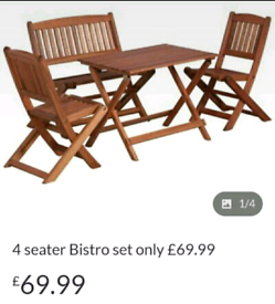 4 seater Bistro set brand new only £69.99