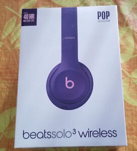 Beats solo 3 wireless (purple pink) unopened box