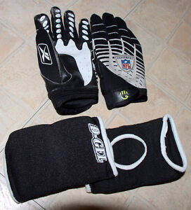 Youth Reebok NFT football Gloves and D-Gel elbow pads