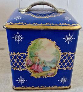 RÉSERVÉ MLT Antiquité Collection Magnfique boîte en fer ancienne