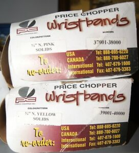 Special event wrist bands