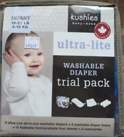 Kushies Washable Diapers Trial Pack (New)