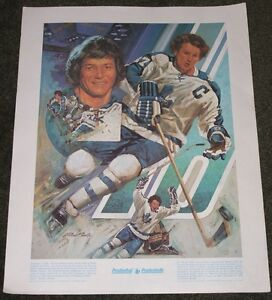 "Darryl Sittler ""Great Moments in Canadian Sports"" Lithograph"