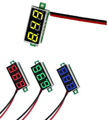 Dc 3-30v 0.36 2 Wire Led Digital Panel Meter Voltage Voltmeter Redbluegreen L