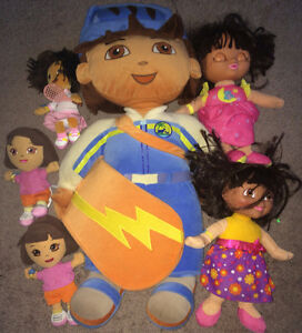Dora The Explorer & Diego Plush Lot Stuffed & Talking Dolls