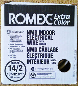 15 Metres 'ROMEX' NMD-90 14/2 Indoor Electrical Wire w/ Ground