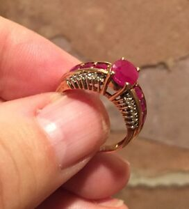 Ruby Diamond and Gold Ring