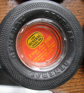 Ancien Cendrier Pneu Publicitaire Pirelli Remington General Dual