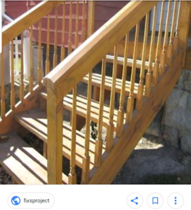 Looking to trade cleaning services for stairs please read