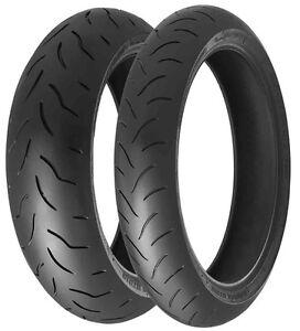 MotorCycle Tyres Bridgestone BT016 Pro 120/70/ZR17 & 190/50ZR17 Pair Deal *NEW*