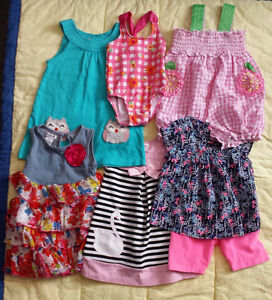 Summer clothes for toddler girl/baby girl size 2/24 months