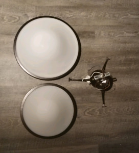 Ceiling Lamp Lights - Frosted Dark Brown Rim