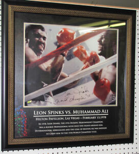 """Signed SPINKS versus ALI in Beautiful Frame 28-1/2"""""""