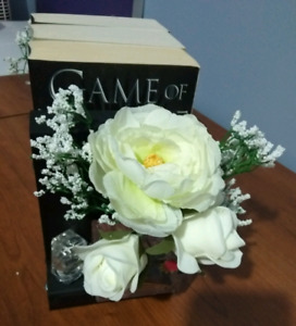 Upcycled floral bookends $15 for pair