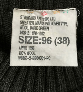 Standerd knitting LTD. Sweater, man's pullover.