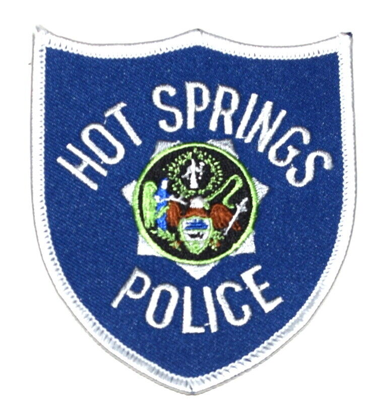 HOT SPRINGS ARKANSAS AR Sheriff Police Patch STATE SEAL ANGEL CROSS SHIELD ~