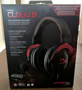 HyperX Cloud II Gaming Headset for PC & PS4 - Red