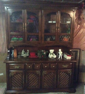 New price solid pine display cabinet $135.00