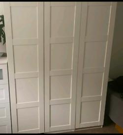IKEA pax white 3 doors wardrobe