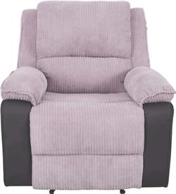 Panana Jumbo Cord Fabric Recliner Armchair Lounge Chair Home Reclining