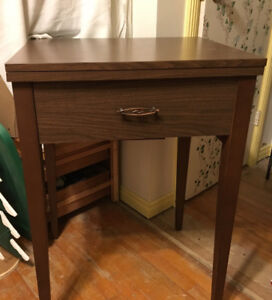 Sewing machine table.