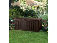 Keter Glenwood Garden Storage Waterproof Box UPC 7290103666101.