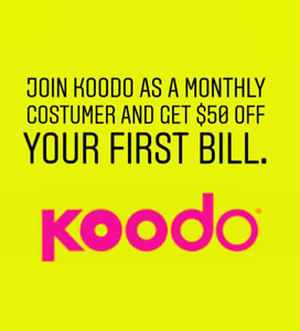 Join Koodo for the first time get $50 bill credits