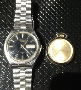 Two vintage watches Seiko automatic , ladies Lucerno pocketwatch