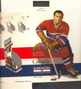MAURICE RICHARD  vhs display box/ boite soutien