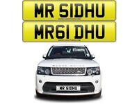 MR SIDHU cherished private personalised number plate car reg - MR 61DHU - SIDHU