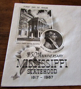 1967 150th Anniversary Mississippi Statehood First Day Cover Kitchener / Waterloo Kitchener Area image 2
