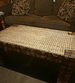 Straw Weave Coffee Table **FREE TO COLLECTOR**