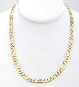"26"" Vintage 5mm Yellow Gold Plated Necklace Guaranteed for Life"