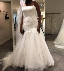 Enzoani, Blue, Emporia Wedding Dress - Size 14 - $1300