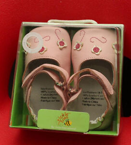 BrandNew Tickle Toes Pink Flower Soft Leather Shoes 18-24 Months