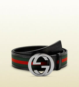 Brand New Gucci Real Leather Classic Red Green Stripe