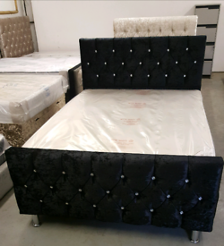 Hand Made Crushed Velvet Beds