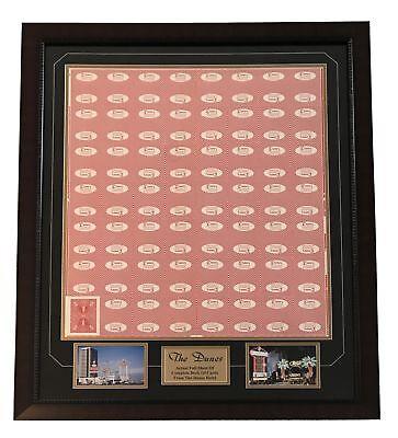 Dunes Las Vegas  Uncut Poker Card Sheet Collage Frame Hotel Playing Cards Strip