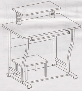 "Computer Desk / Cart by ""Staples"""