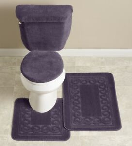 Scroll 5-Pc. Bath Set Eggplant, New