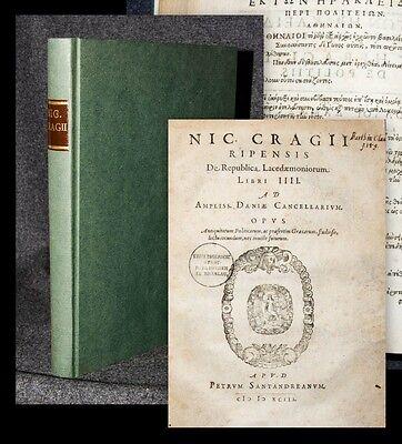 1593 Heraclides Ponticus Nicolaus Damascenus editio princeps Greek printing