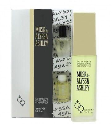ALYSSA ASHLEY MUSK GIFT SET 100ML EDT + 5ML MUSK PERFUME OIL...
