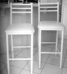 White Bar / Counter Stools - 3 Available