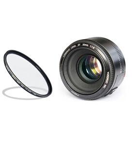 Yongnuo Kit: EF 50mm F/1.8 Lens For Canon + NCC UV Filter 52 Mm