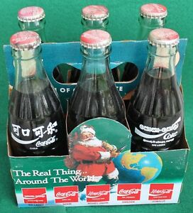 COCA COLA 1990 Commemerative 6 pack, different countries