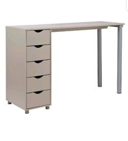 Brand new grey 5 drawer desk