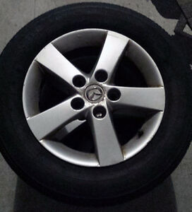 "4 - 15"" All Season Rims and Tires Mazda 3 - 50% Wear 195/65R15"