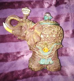 Elephant ornament.