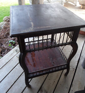 Antique Gallery Table Needs TLC Or Paint it to Match Your Decor