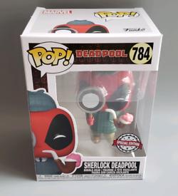 Brand new sealed box Funko POP! Deadpool #784 Sherlock Deadpool Exclus